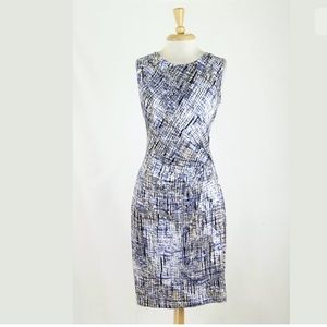 New Nic + Zoe Abstract Twist Front Jersey Dress S